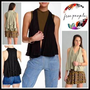 Free People Jackets & Blazers - ❗1-HOUR SALE❗FREE PEOPLE Swingy Linen Vest