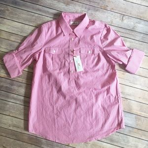 Vineyard Vines Tops - Vineyard Vines Poplin Stripe Camp Pocket Popover