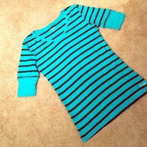 Calvin Klein Blue and black 3/4 shirt