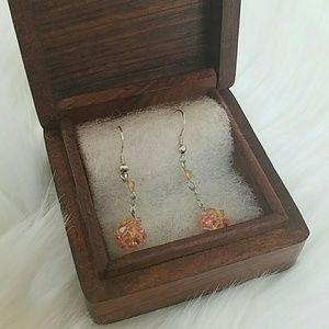 Jewelry - NWOT India handmade pink drop earrings