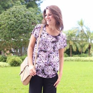 Purple patterned Cynthia Rowley top