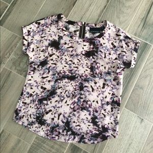 Cynthia Rowley Tops - Purple patterned Cynthia Rowley top