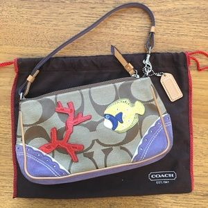 Authentic Coach Limited Edition Fish & Coral Purse