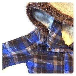 Roxy plaid jacket