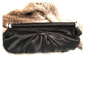 Black Satin Cocktail Purse Clutch - Evening Bag