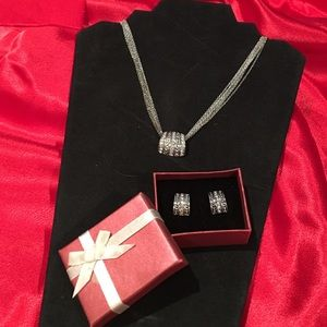 Avon Jewelry - Sparkling pave necklace and earring set