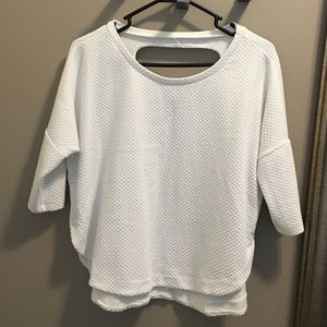 White boxy crop tee from Philosophy