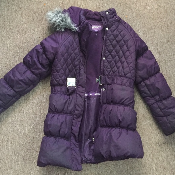 new release hot-selling real 2020 Purple puffer coat for girls