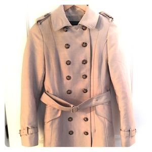 Zara Double Breasted Trench Coat, Size Small