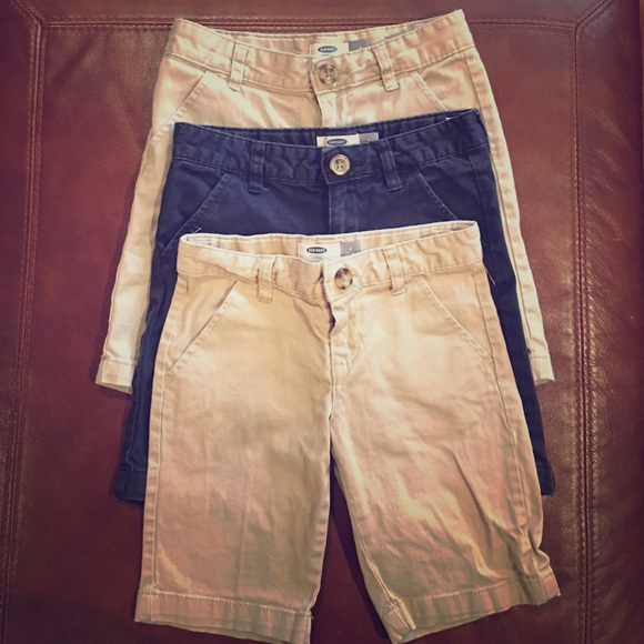 76a2be1102 Girls Uniform shorts - 2 khaki, 1 navy (3 total). M_57c0a2bc3c6f9ff77d00c5c2