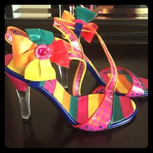 Betsey Johnson RAINBOW heels!!! 