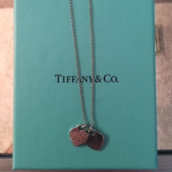 7cb1d7dbb6e09 Return to Tiffany mini double heart tag pendant