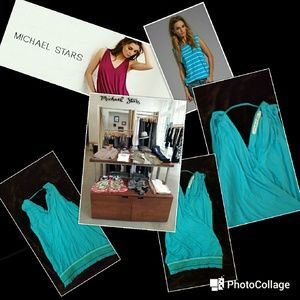 Michael Stars Sleevless Teal Top OS