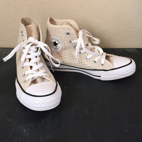 4ee3e0b8b93d52 Converse Shoes - Converse Perforated Chuck Taylor All Star Hi Tops