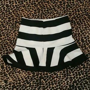 Harlyn Black & White Ruffle Skirt