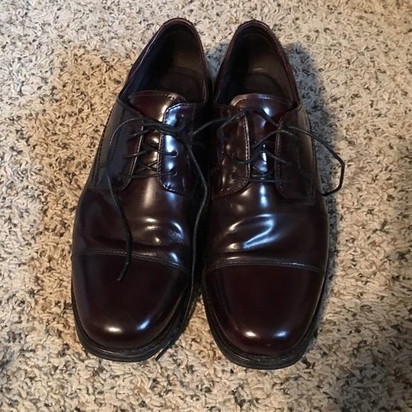 Johnson And Murphy Black Mens Dress Shoes