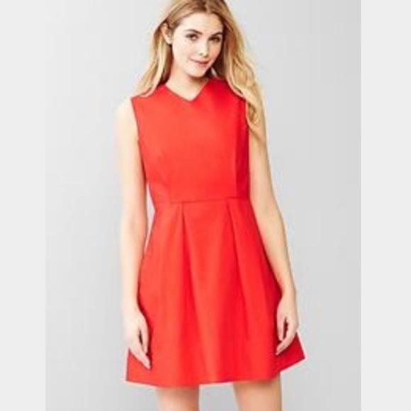 b8cf0b6be91 GAP Dresses   Skirts - Gap Red Fit and Flare dress