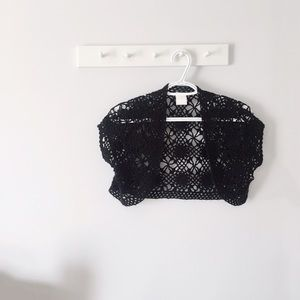 Other - Crochet Cardigan in Black