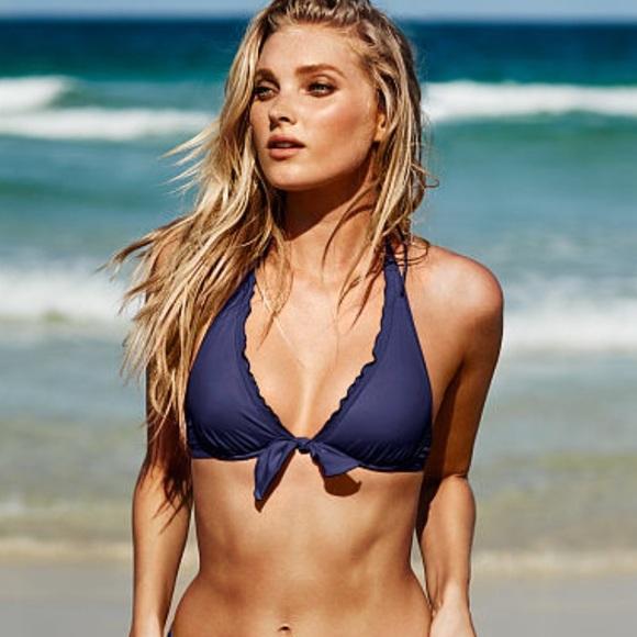 bd12602f9b Victoria's Secret Swim | 34dd Hightie Ruffle Halter Bikini Top Vs ...