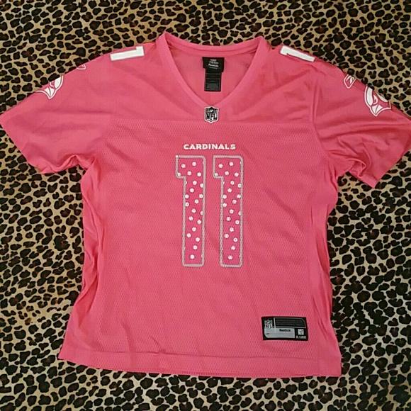 11abcc37c81a Authentic Reebok NFL Pink AZ Cardinals Jersey NWOT.  M 57c0af246a5830708801202a