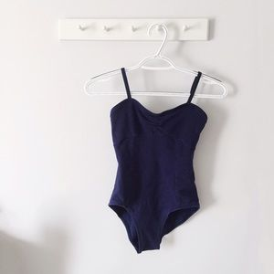 Natalies Dance Wear Tops - Navy Blue Bodysuit/Leotard