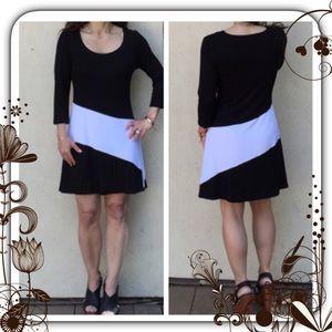 Classic Woman Dresses & Skirts - ⚫️✔️ Super Comfortable Color Block Dress ✔️⚫️
