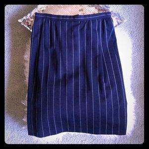 Carolina Herrera Dresses & Skirts - Carolina Herrera blue&white pin stripped skirt s12