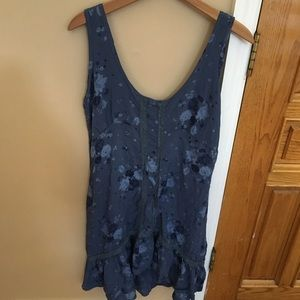 Blue floral shift dress!!!!