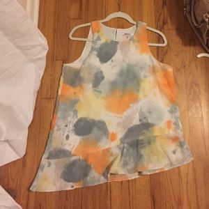 DNY Tops - Grey and orange blouse
