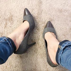 H&M Gray Pointed Heels NWOT
