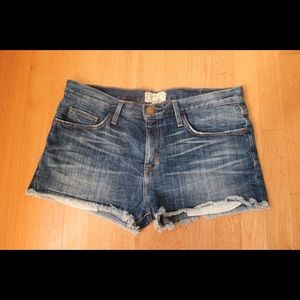 Current/Elliott denim boyfriend shorts