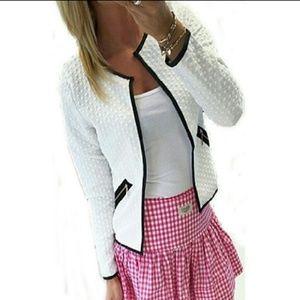 Zanone Jackets & Blazers - Cute Short Tartan Style Long Sleeve Jacket