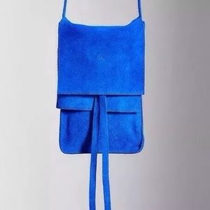 NWT Urban Outfitters Blue Suede Purse
