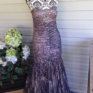 Jump Dresses & Skirts - Stunning Lilac/Silver/Blk Mermaid Gown