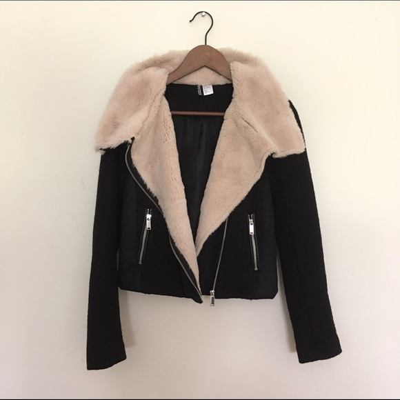 H&M Jacket with faux fur lining Cheap 2018 Newest cCPhk2v