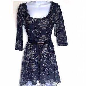 Trixxi Dresses & Skirts - Black and Gray Hi-Lo Dress