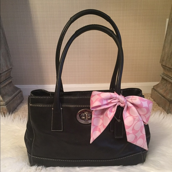 Coach - {Coach} Purse with Pink Bow from Katie's closet on ...