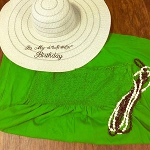 Green Old Navy swimsuit cover-up