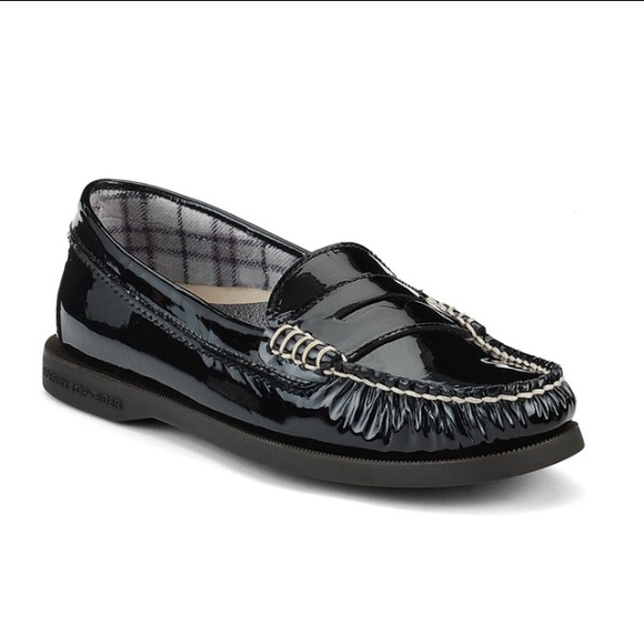 dc6b4e31309 Sperry Hayden Penny Black Patent Leather Loafers. M 57ea63ec13302a6dcb018573