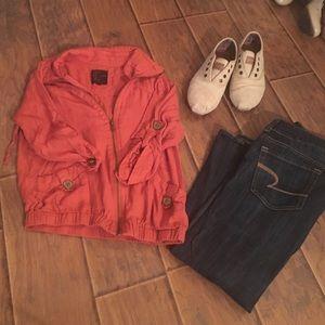 Burnt Orange zip-up jacket by Mine