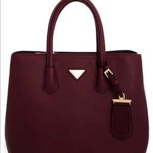 Wine colored Satchel Handbag