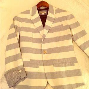 Blue and white striped blazer!