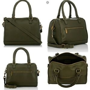 Barneys New York Handbags - Barneys New York Leather Purse in Olive Green