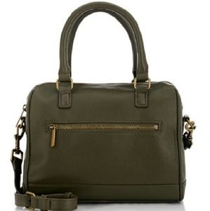 Barneys New York Leather Purse in Olive Green