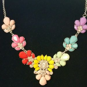 Beautiful Colorful Statement Necklace
