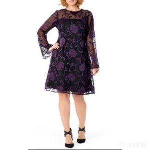 MYNT 1792 Dresses & Skirts - Mynt 1792 Black Floral Burnout Cocktail Dress