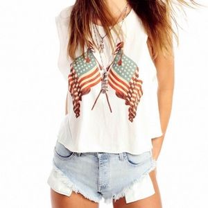 Wildfox Tops - Wildfox lady liberty tank