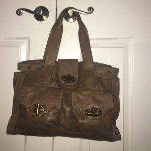 Ashy brown leather purse
