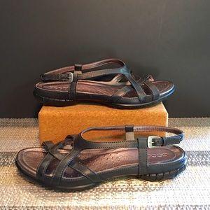 ECCO Women's Black Sandal 40