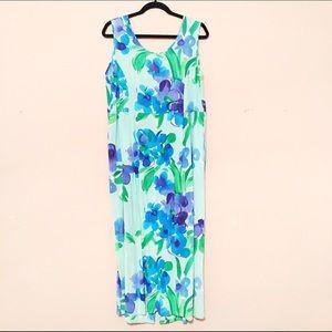 Vintage Vibrant Floral Dress